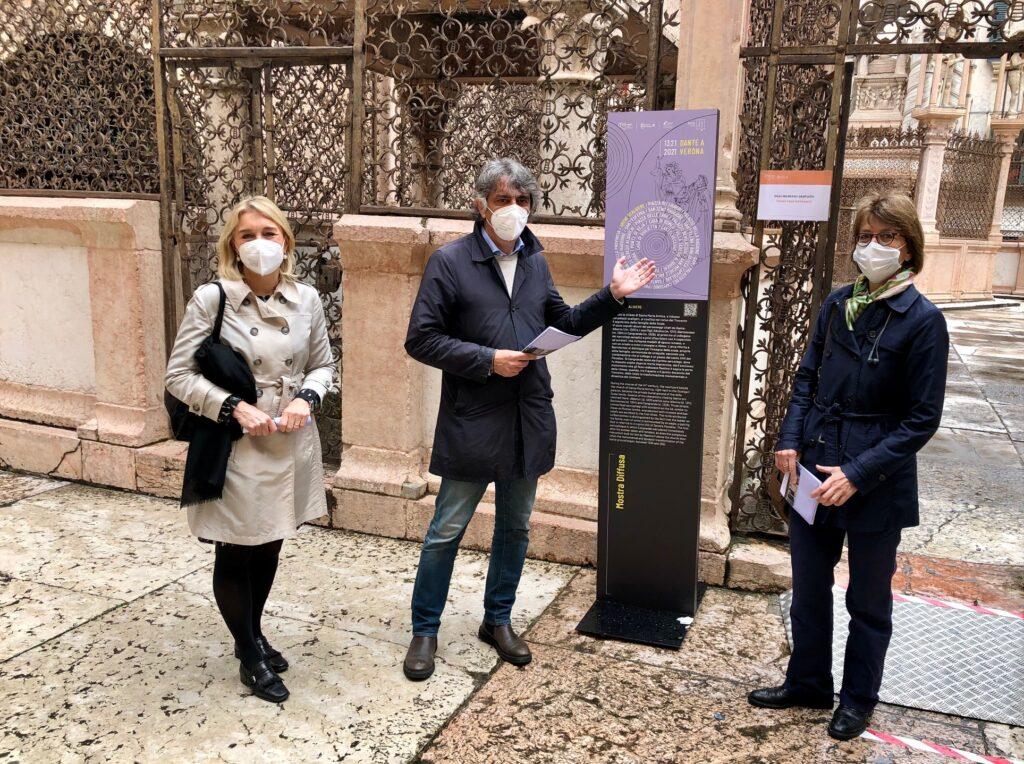 Percorso con mappa alla scoperta dei luoghi di Dante a Verona